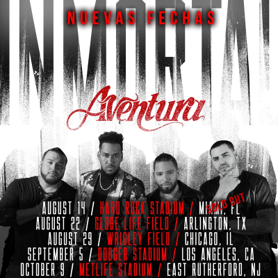 Aventura Inmortal 2021 Tour