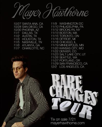 Mayer Hawthorne Rare Changes Tour 2021