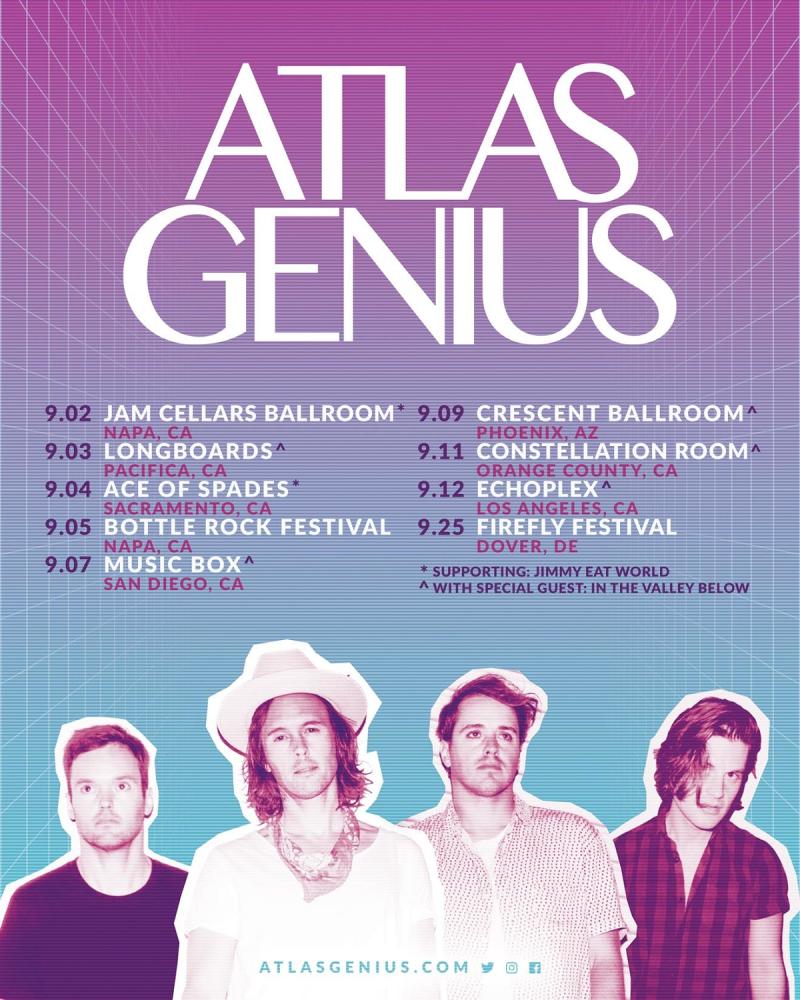 Atlas Genius 2021 Tour