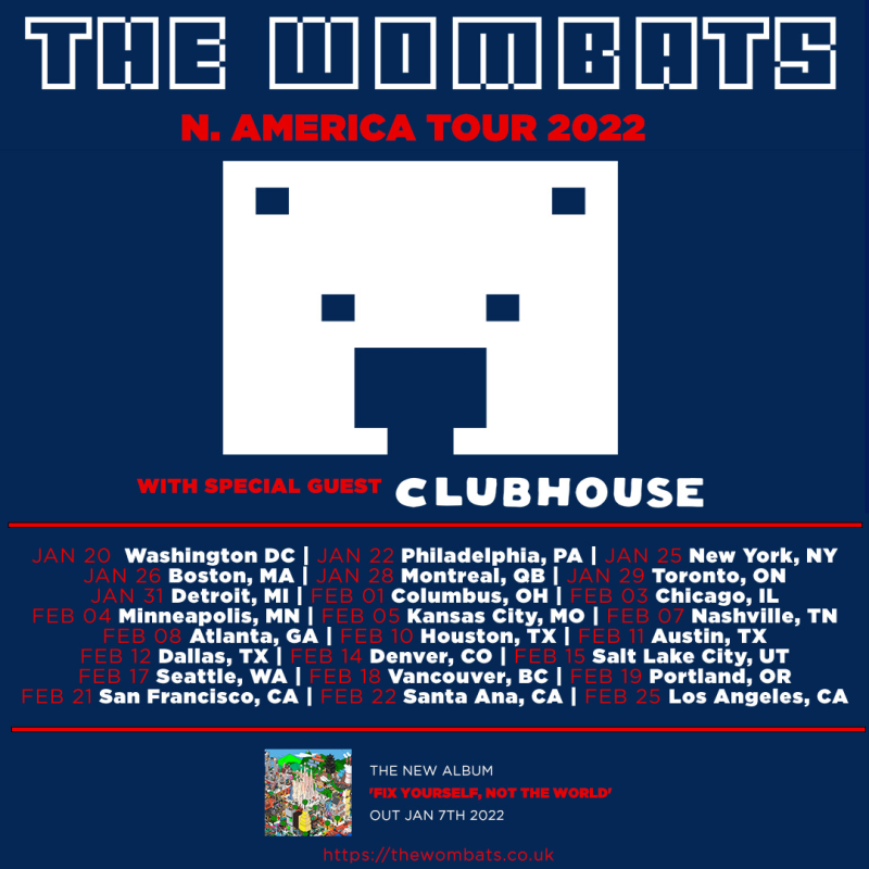 The Wombats North American Tour 2022