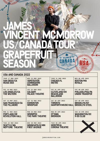 James Vincent McMorrow Grapefruit Season 2022 Tour
