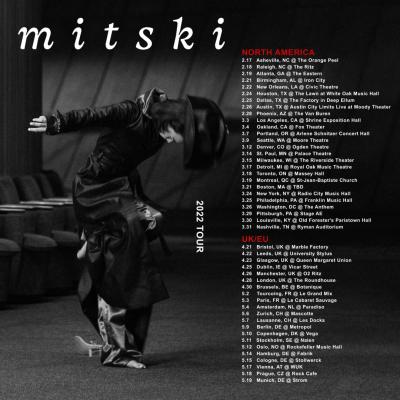 Mitski 2021 North American Tour