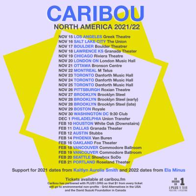 Caribou 2021 Tour