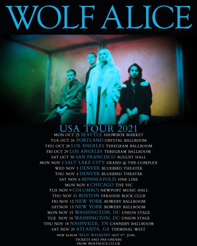 Wolf Alice USA Tour 2021
