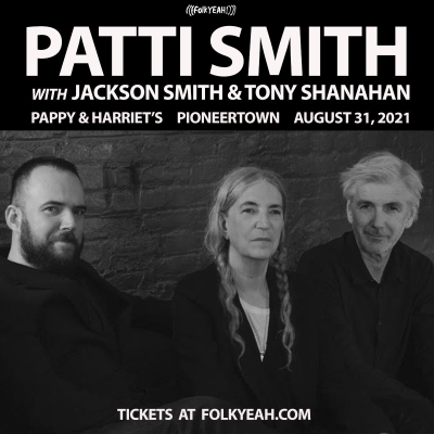Patti Smith Pappy Harriets 2021