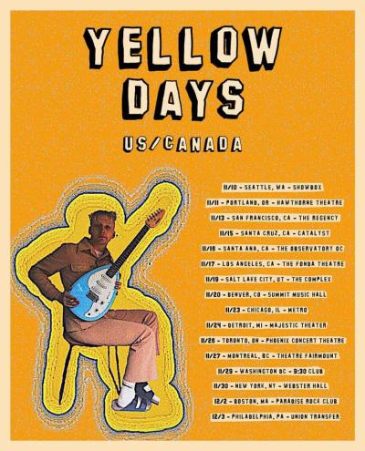 Yellow Days 2021 Tour Dates