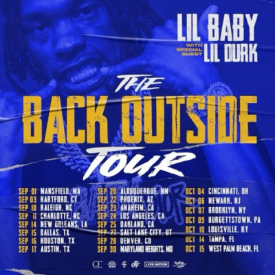 Lil Baby The Back Outside Tour 2021