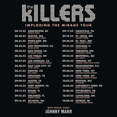 The Killers Imploding The Mirage Tour 2022