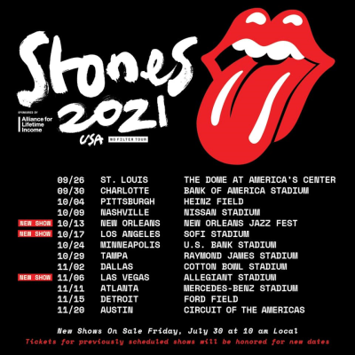 The Rolling Stones 2021 No Filter Tour USA