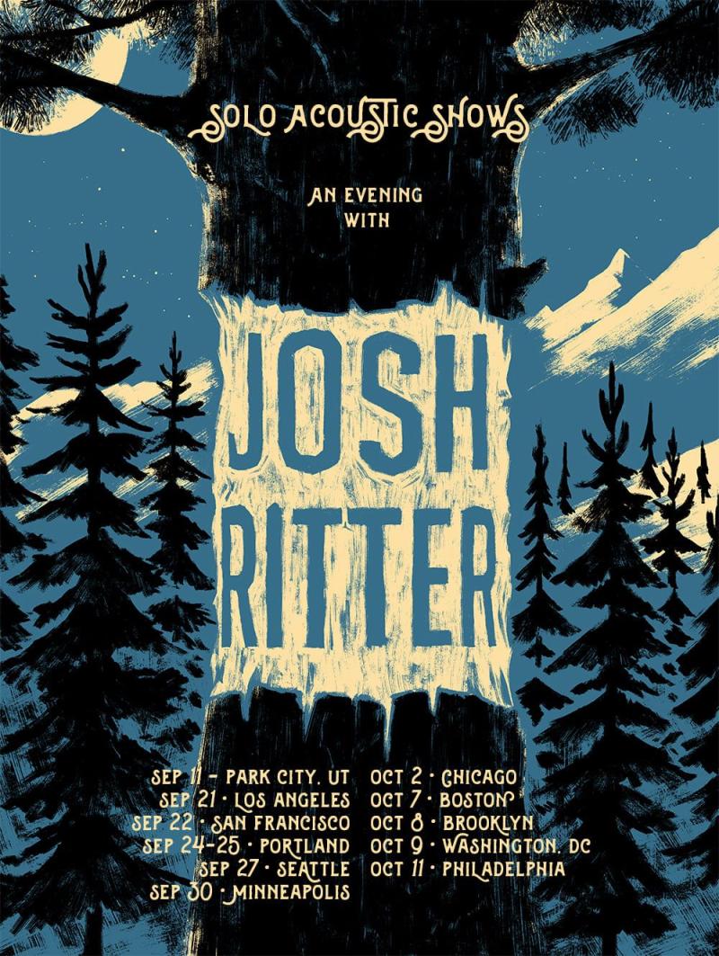Josh Ritter 2021 Solo Acoustic Tour