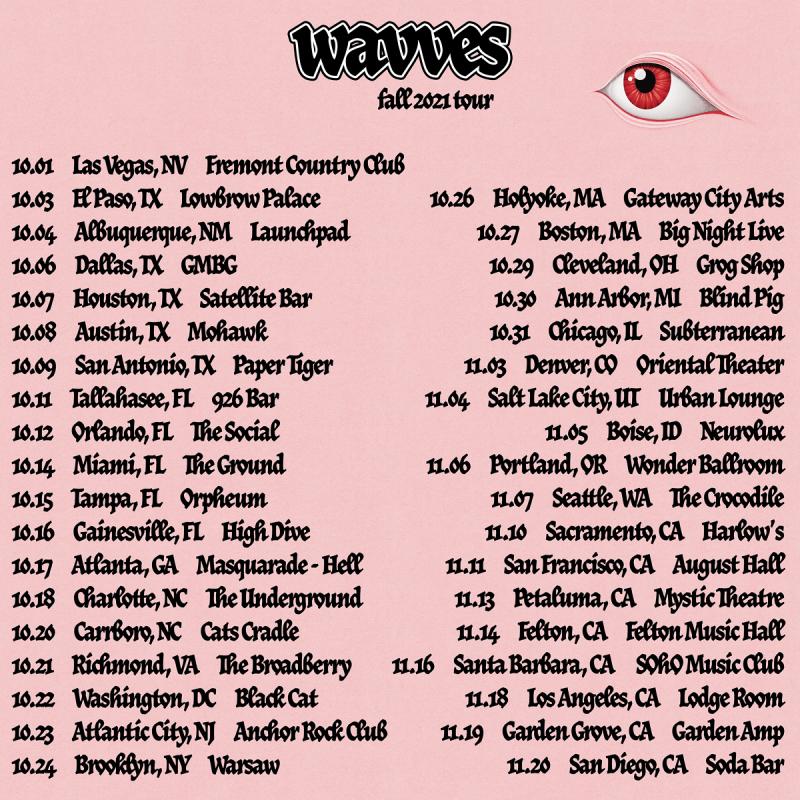 WAVVES Fall 2021 Tour