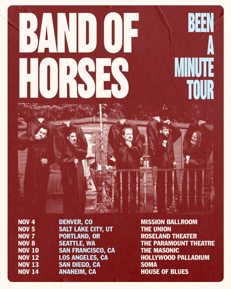 Band Of Horses Been A Minute Tour 2021