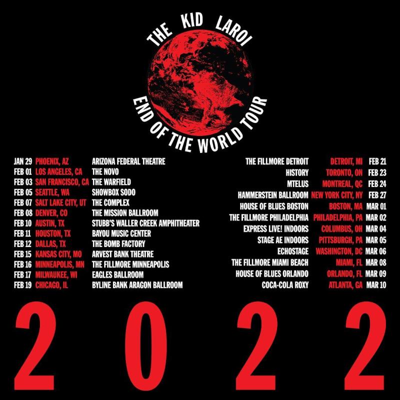 The Kid Laroi End of the World Tour 2022
