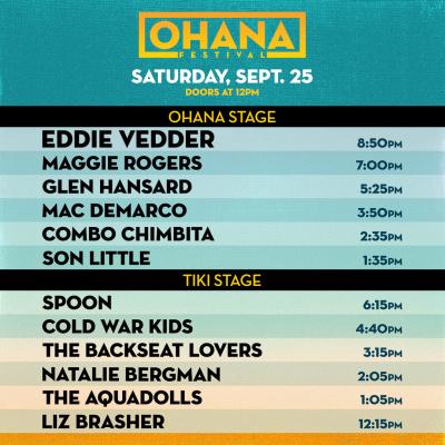 Ohana Fest 2021 Set Times Saturday