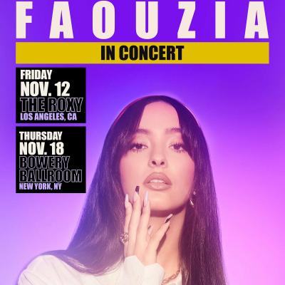 Faouzia In Concert Tour 2021