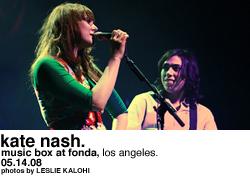 Kate Nash @ Music Box at Fonda