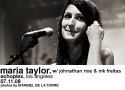 Maria Taylor @ Echoplex