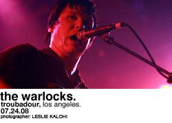The Warlocks @ Troubadour