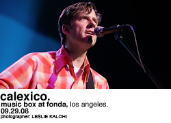 Calexico @ the Music Box at the Fonda
