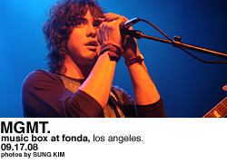 MGMT @ Music Box at the Fonda