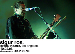 Sigur Ros @ the Greek Theatre
