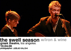 The Swell Season with Iron & Wine @ the Greek Theatre