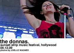 The Donnas at the Sunset Strip Music Festival