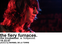 The Fiery Furnaces @ the Troubadour