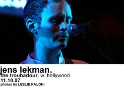 Jens Lekman @ the Troubadour