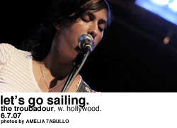 Let's Go Sailing @ the Troubadour