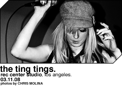 The Ting Tings @ Rec Center Studio