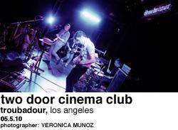 Two Door Cinema Club at Troubadour