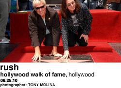 Rush at Hollywood Walk of Fame