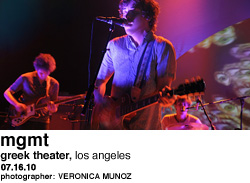 MGMT at Greek Theater