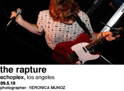 The Rapture at Echo Plex