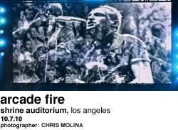 Arcade Fire at Shrine Auditorium