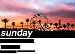 Coachella 2011, Sunday