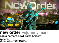 New Order with Johnny Marr at The Santa Barbara Bowl